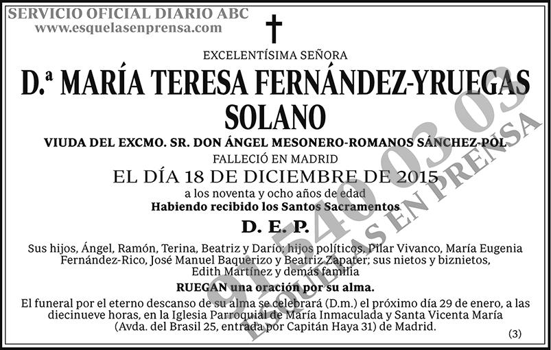 María Teresa Fernández-Yruegas Solano